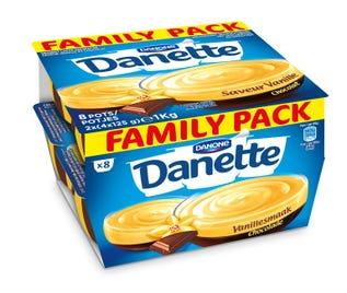 danette vanille-choco 4x125g