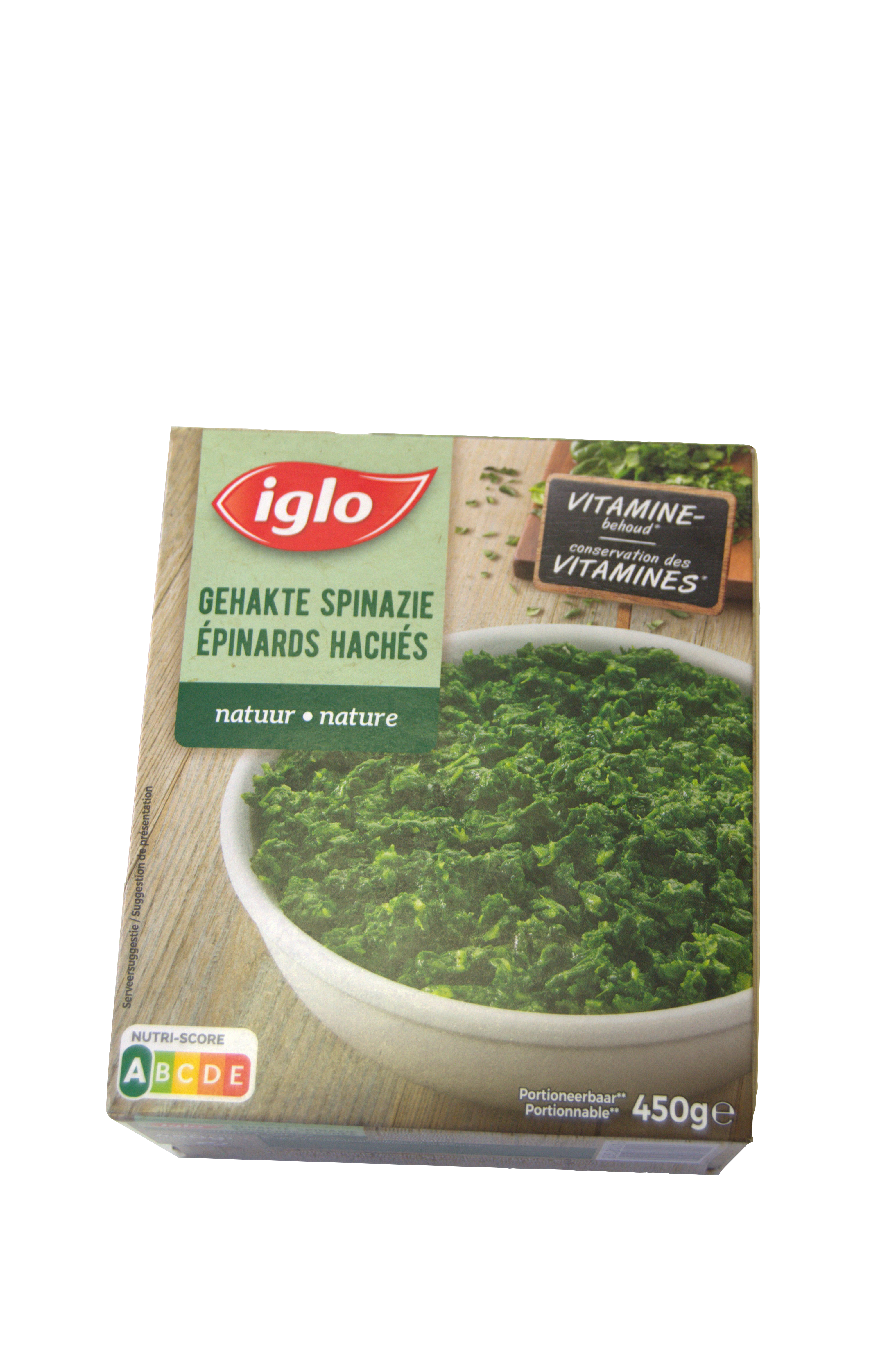 iglo gehakte spinazie natuur