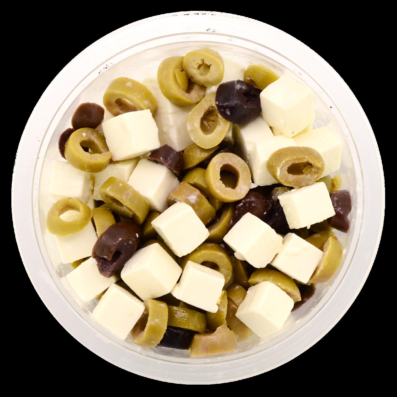 Père olive met kaas